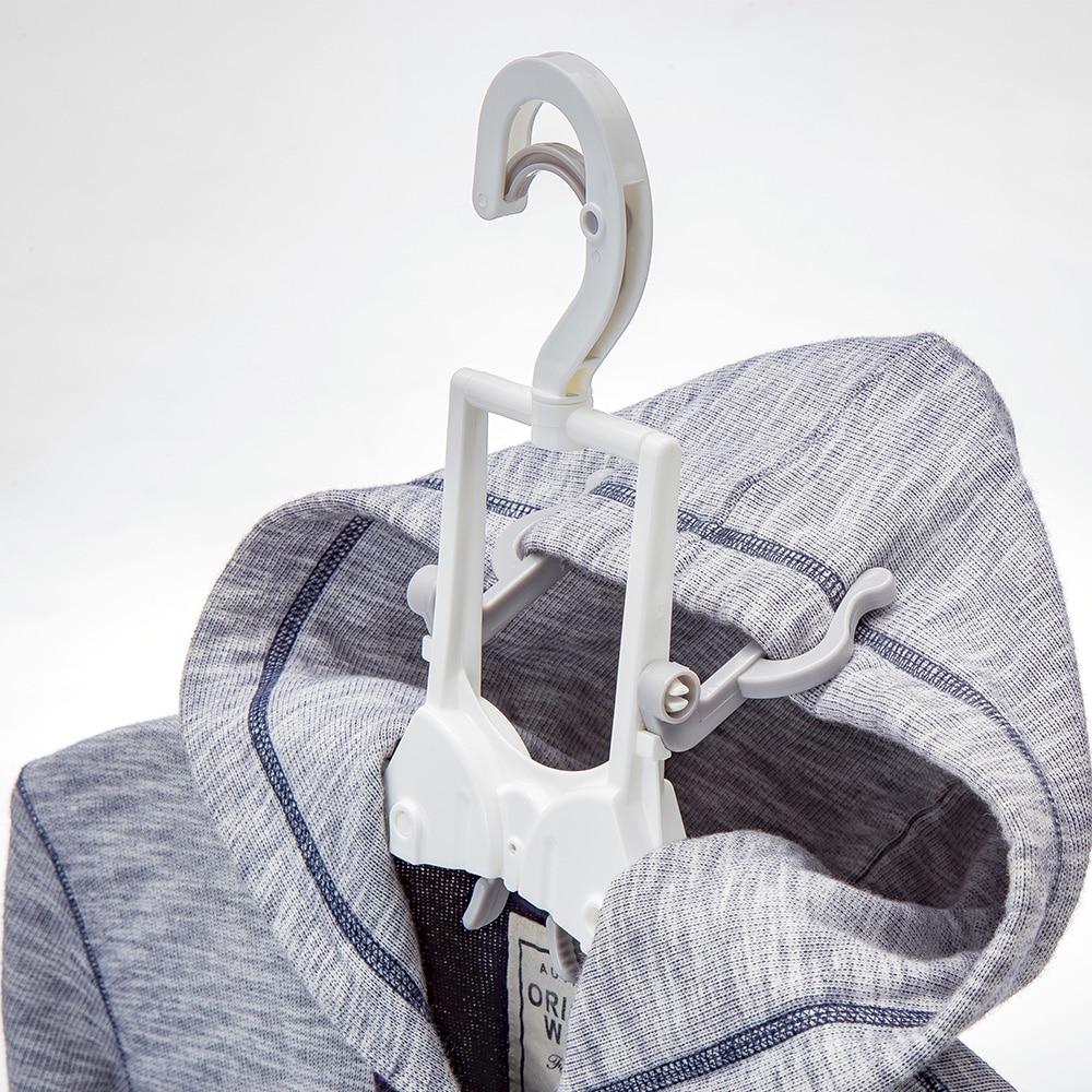 フード付き衣類が乾きやすいハンガー