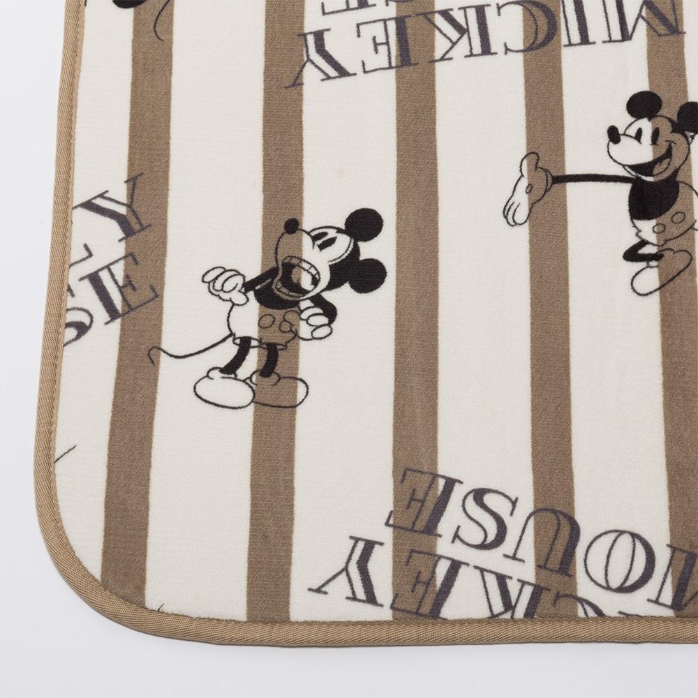 洗えるコンパクトラグ ミッキーマウス 185×185 アイボリー