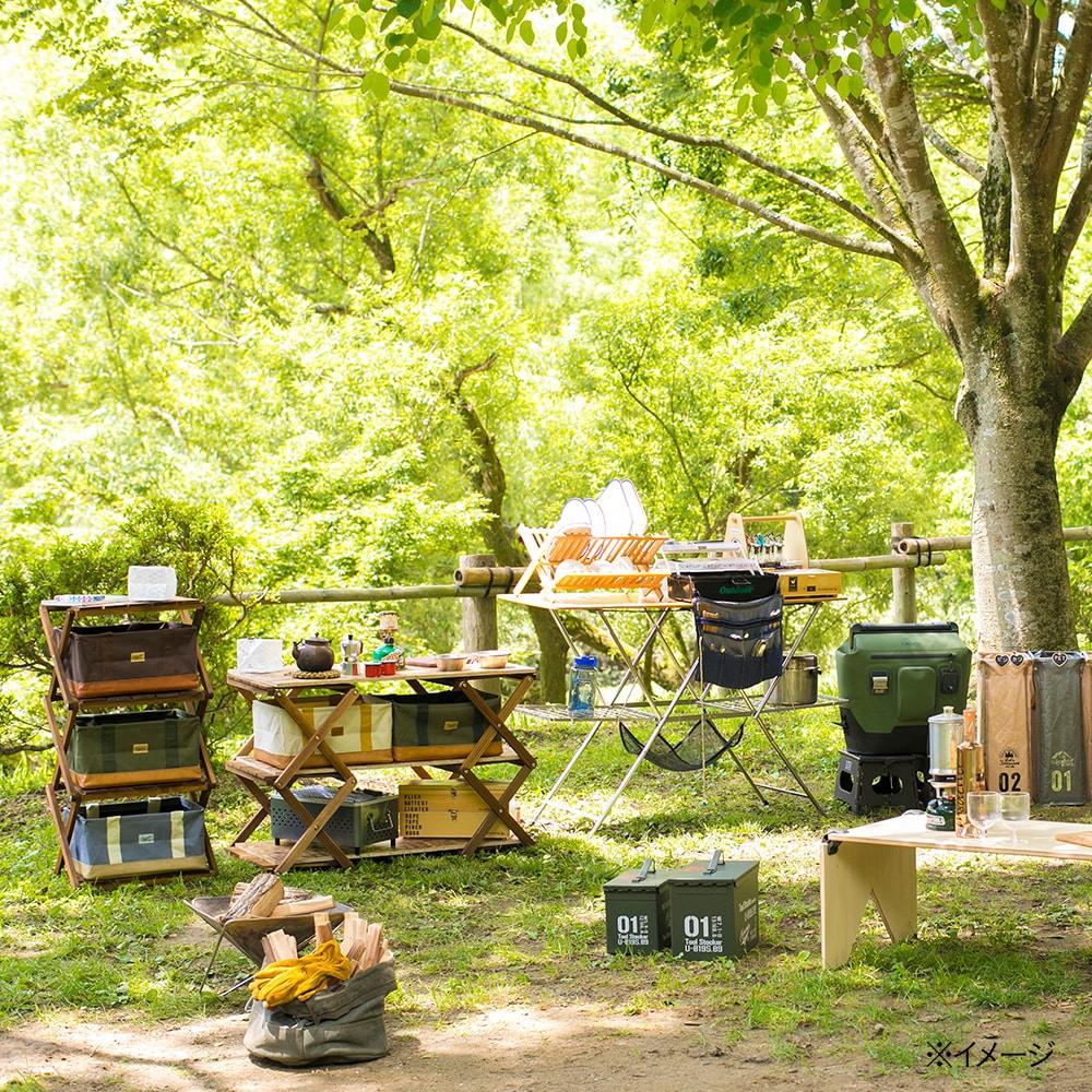 【2019春夏】リフティー 木製折りたたみラック 4段
