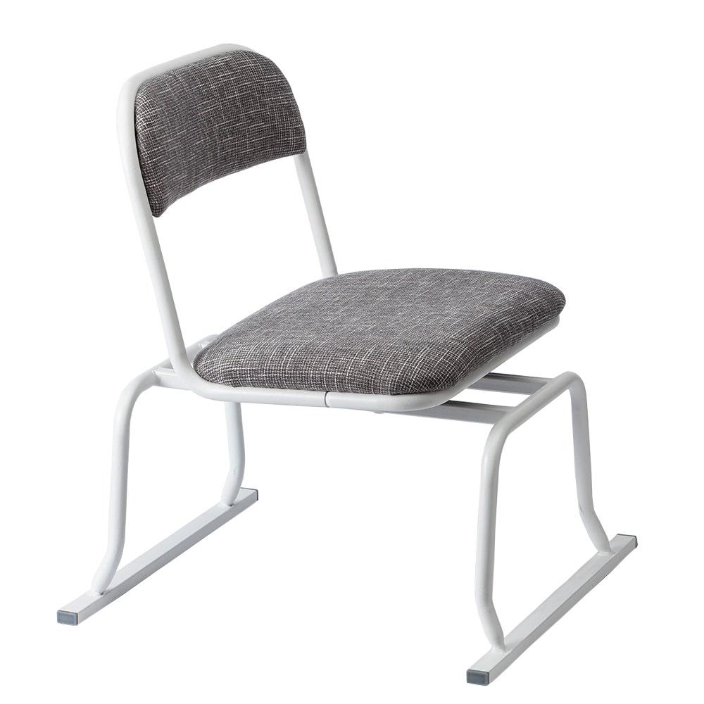 【数量限定】立ち上がりやすい回転椅子 グレー