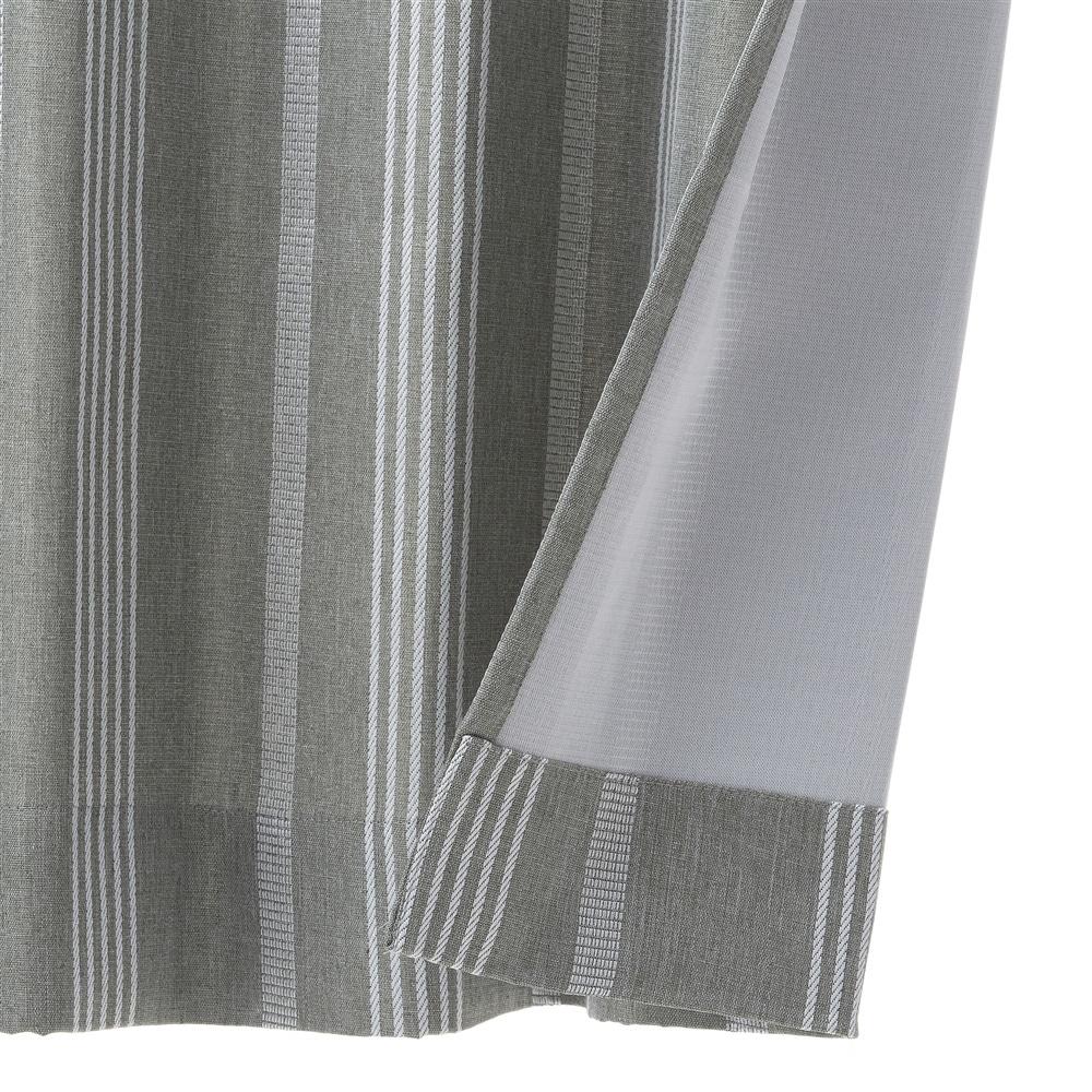 遮光+花粉キャッチ4枚組セットカーテン ブラウライン 100×200
