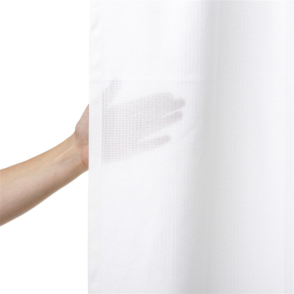 防炎遮像遮熱レースカーテン フレイム 100×175 2枚組