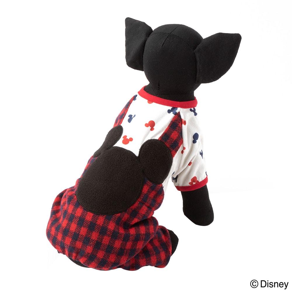 【数量限定・2019秋冬】ズボン付きウェア ミッキーマウス レッドチェック Sサイズ