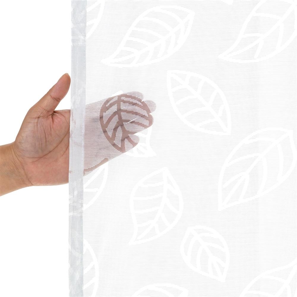 汚れがつきにくい クリーンリーフ 100×198cm 2枚組 レースカーテン