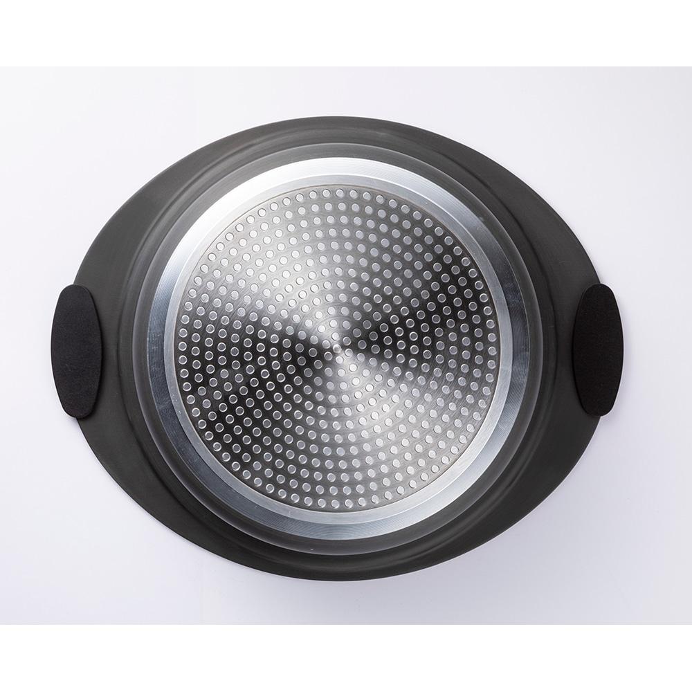 【数量限定】焦げ付きにくい土鍋風アルミ鍋 22cm