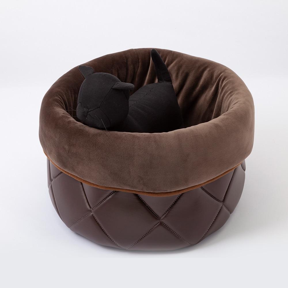 【2020秋冬】汚れにくいレザー調ベッド バッグ型 M