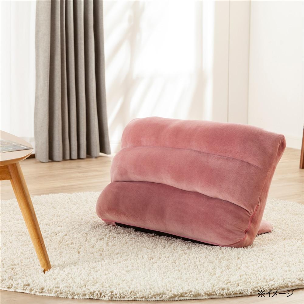 枕にもなる背もたれイス Lepoco ピンク