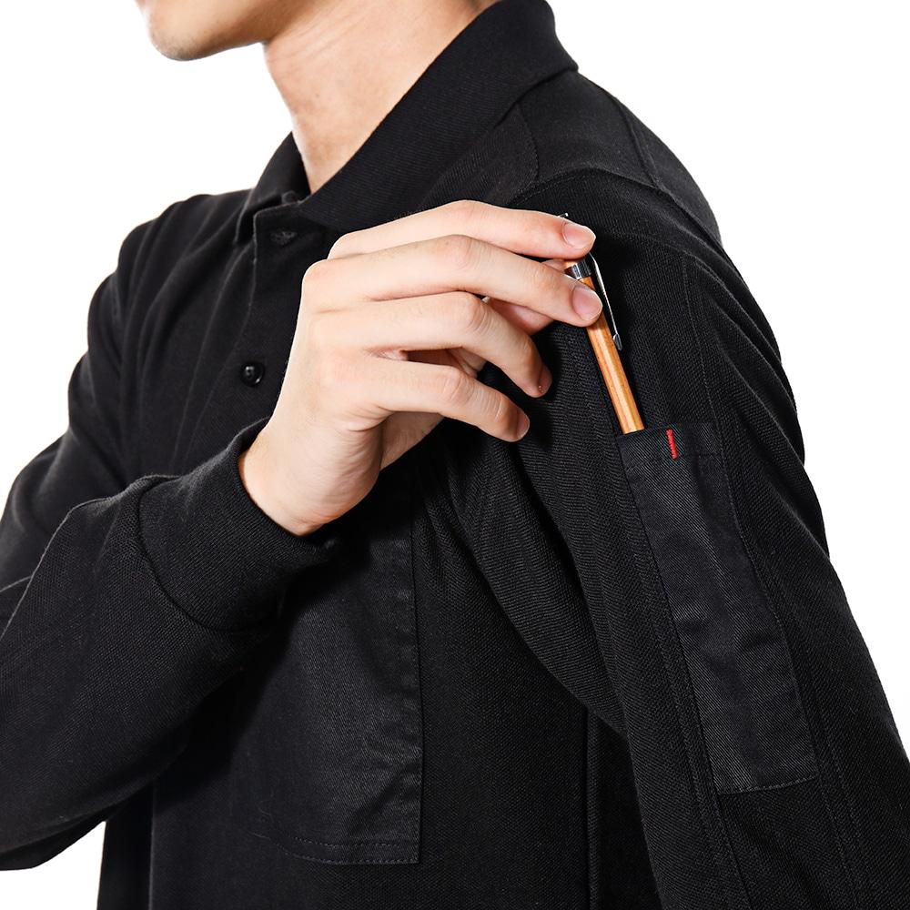 EDW カノコポロシャツ ブラック M