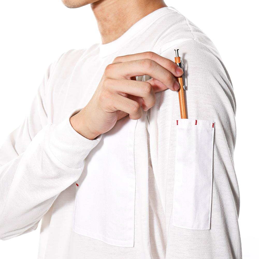 EDW ロングスリーブTシャツ ホワイト L