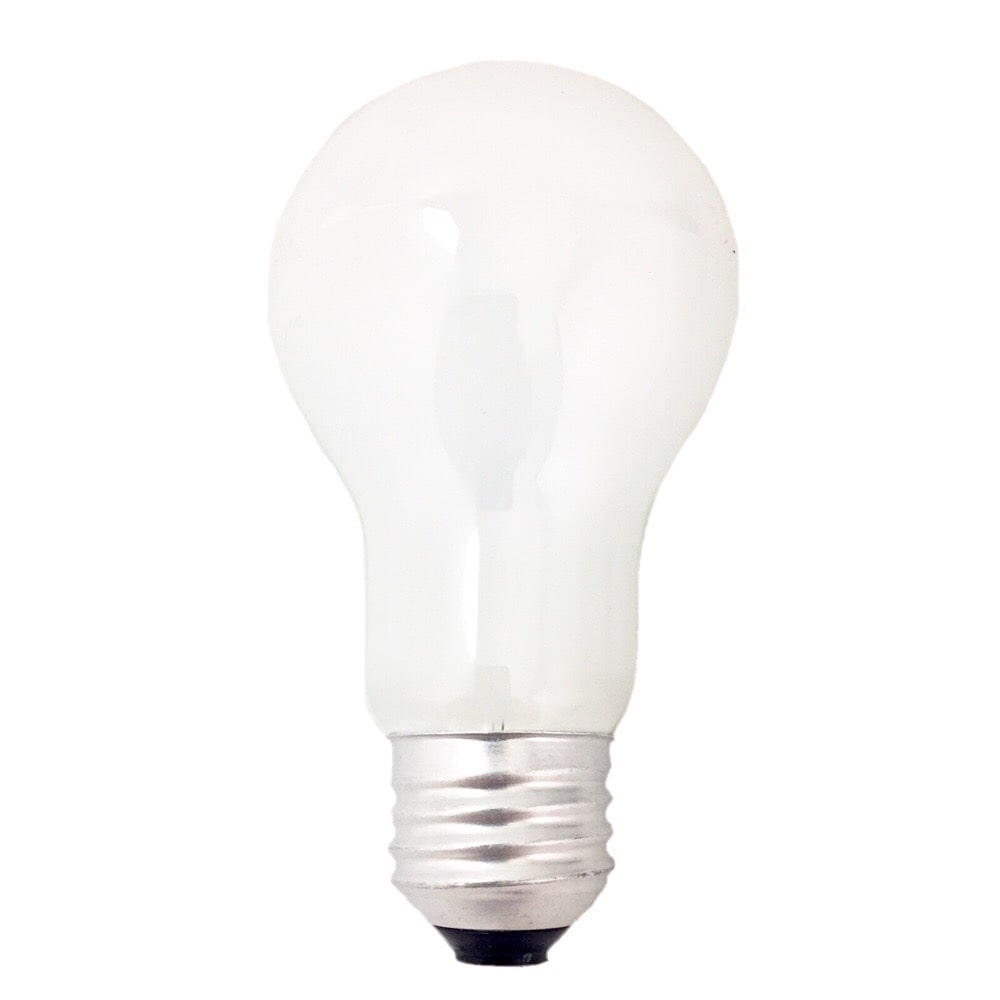 白熱電球 E26 60W ホワイト 2個入 LB-D6657W-2P