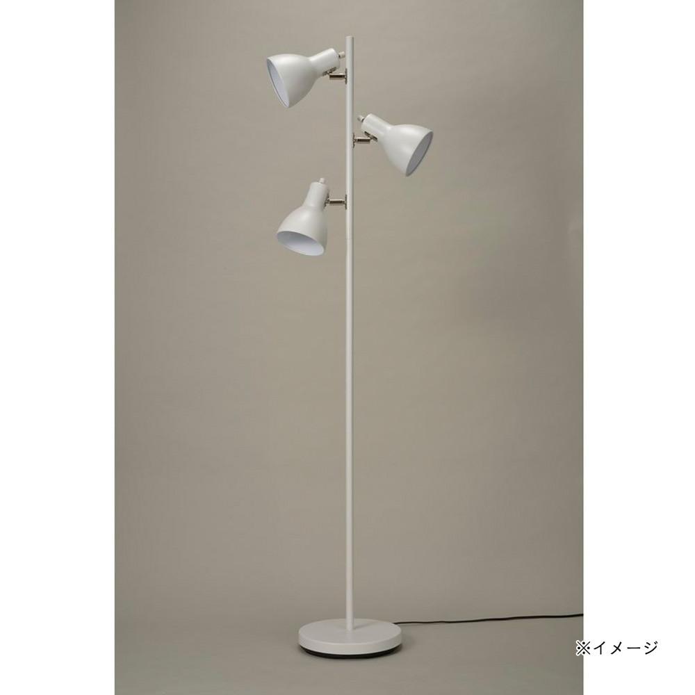 オーム電機 フロアスタンド ホワイト 3灯 TF-YN30BW-W 06-1487