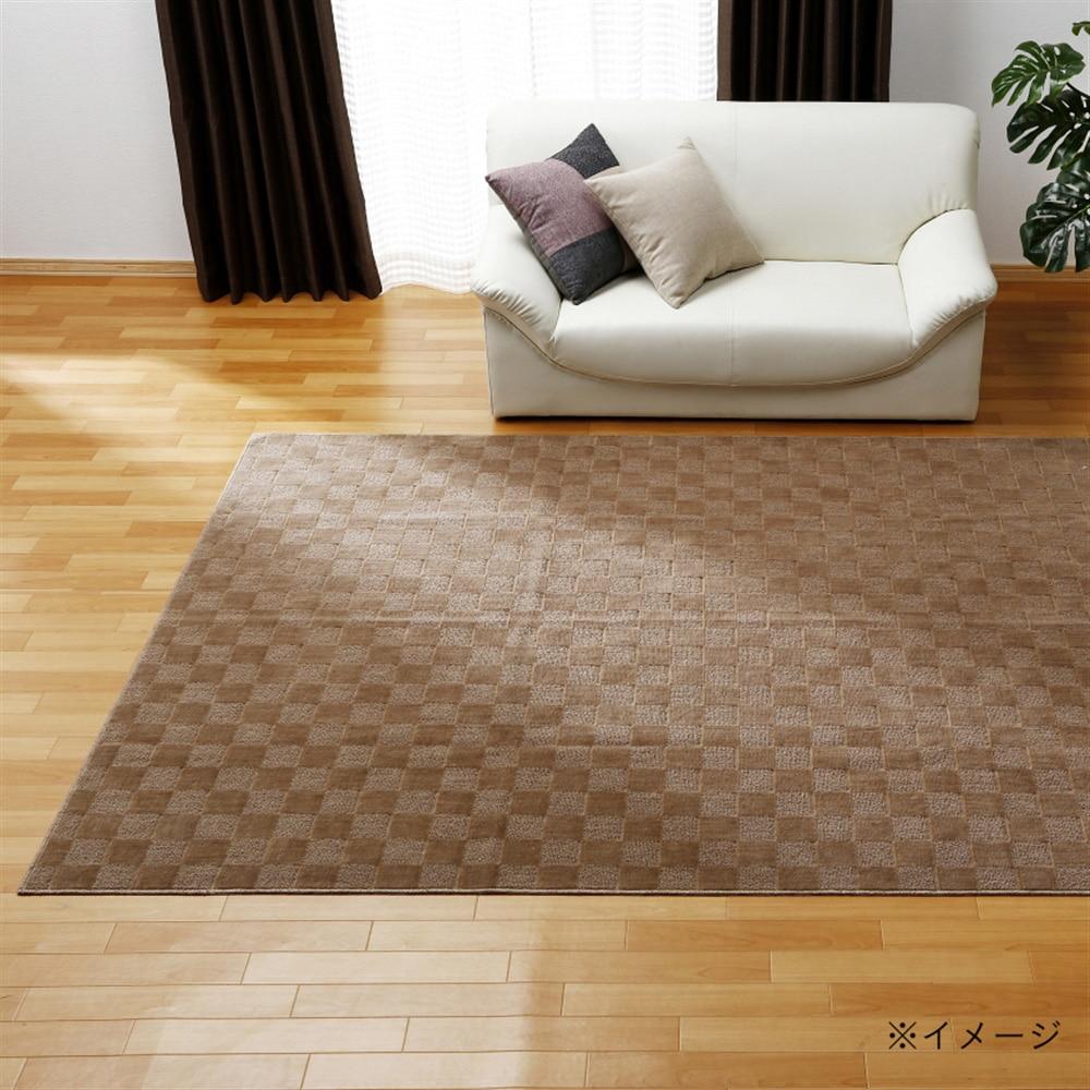 折畳カーペット プレオ 江戸間 8畳 ブラウン