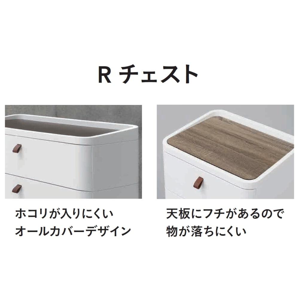 Rチェスト 724 ホワイト【別送品】