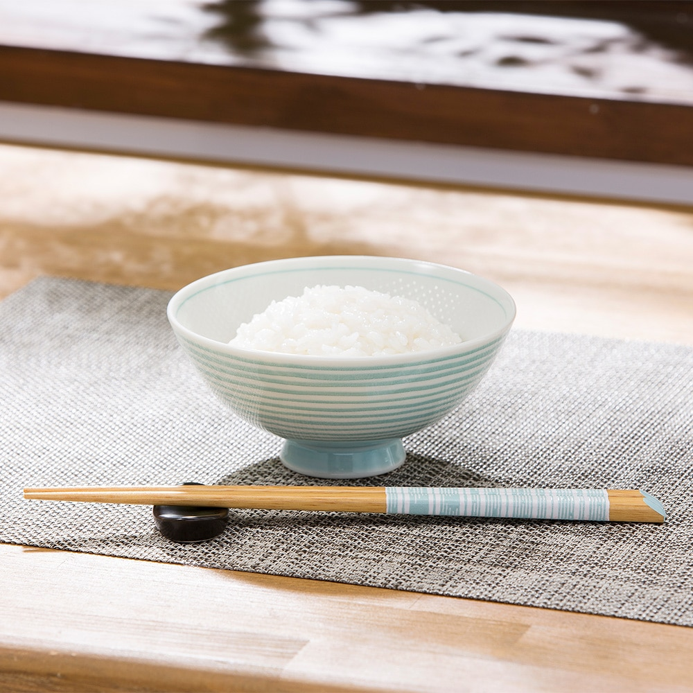 ごはんがつきにくい茶碗 中 ibuki ブルー