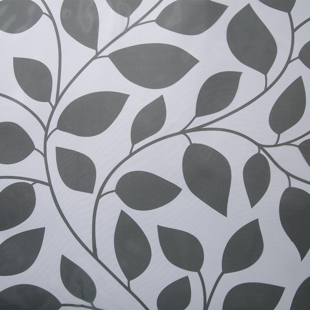 ボイルレースカーテン パールリーフ グレー 100×175 2枚組