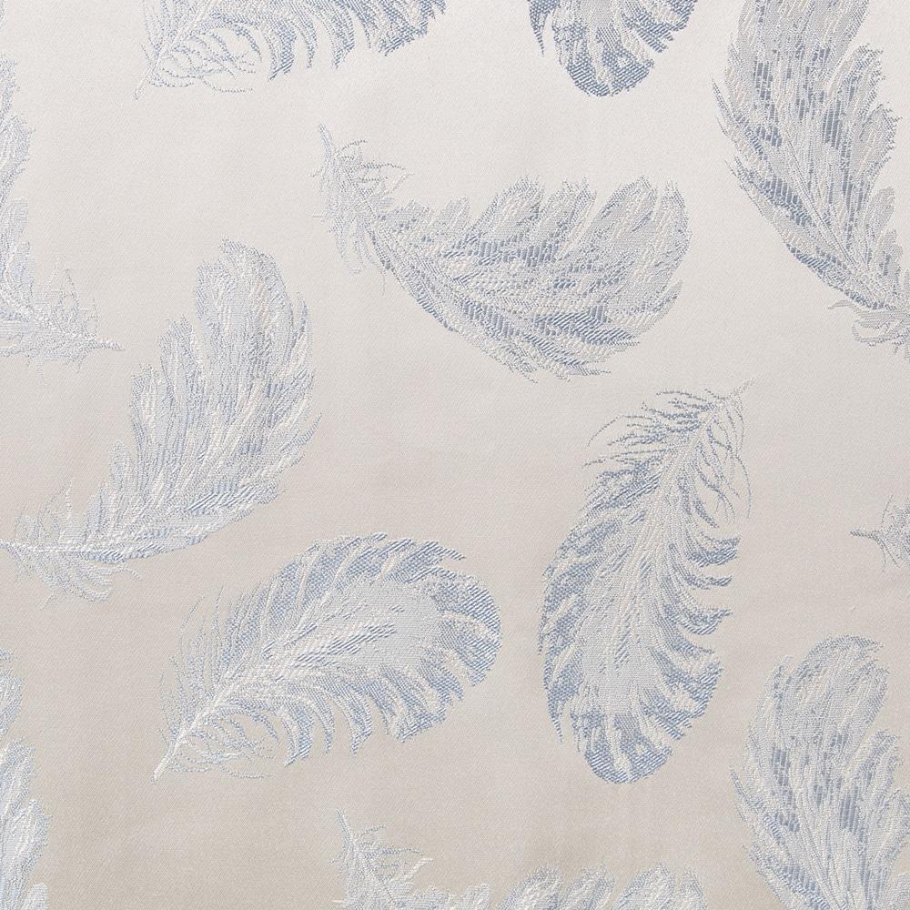 裏地付きカーテン フェザー ブルー 100×178 2枚組