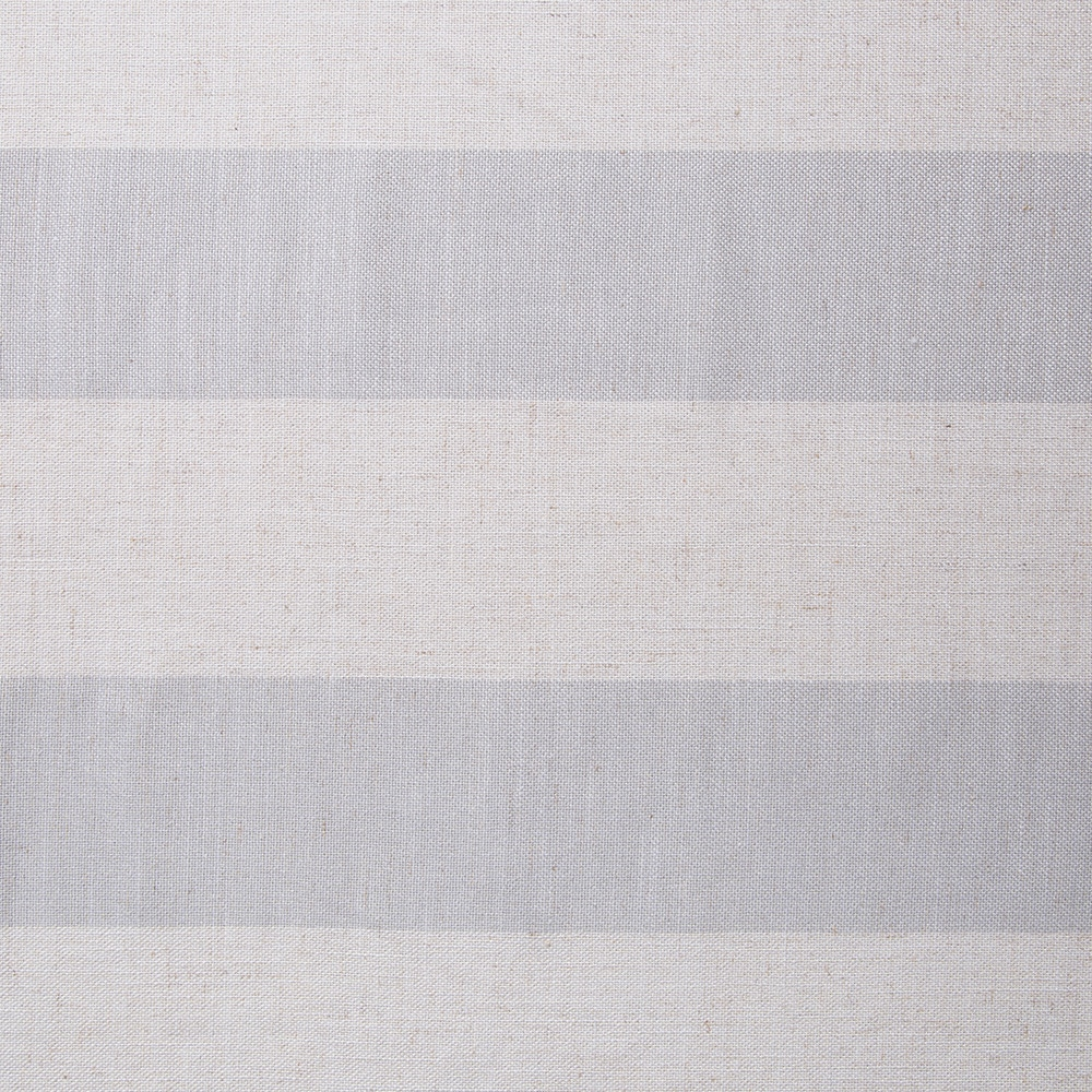 麻混フラットカーテン ビッグボーダー ブルー 220×230 1枚入