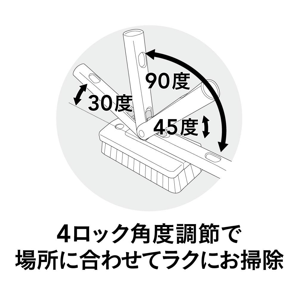 ワンタッチスライド伸縮 3WAY バスブラシ