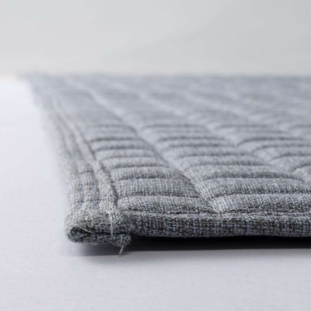 洗えるキルトラグ &pet 185×185 ブルー/ グレー