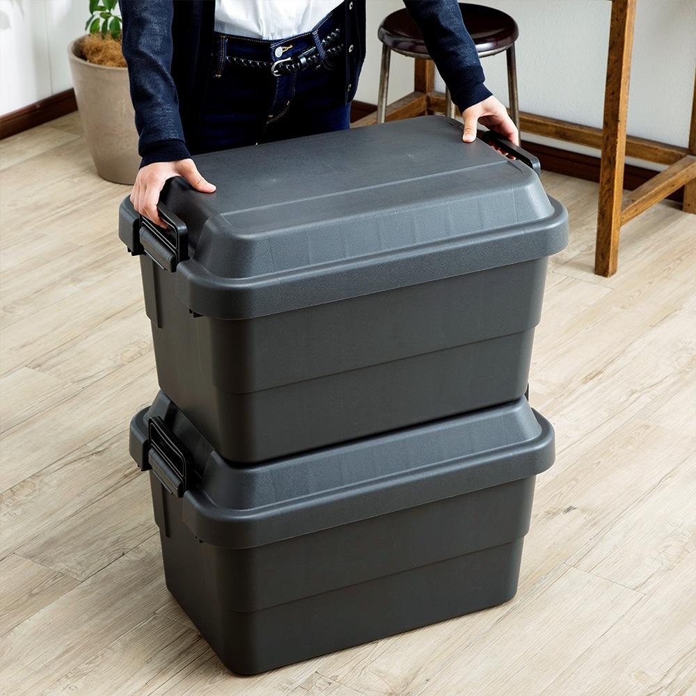 座れる丈夫な収納BOX 50 ブラック