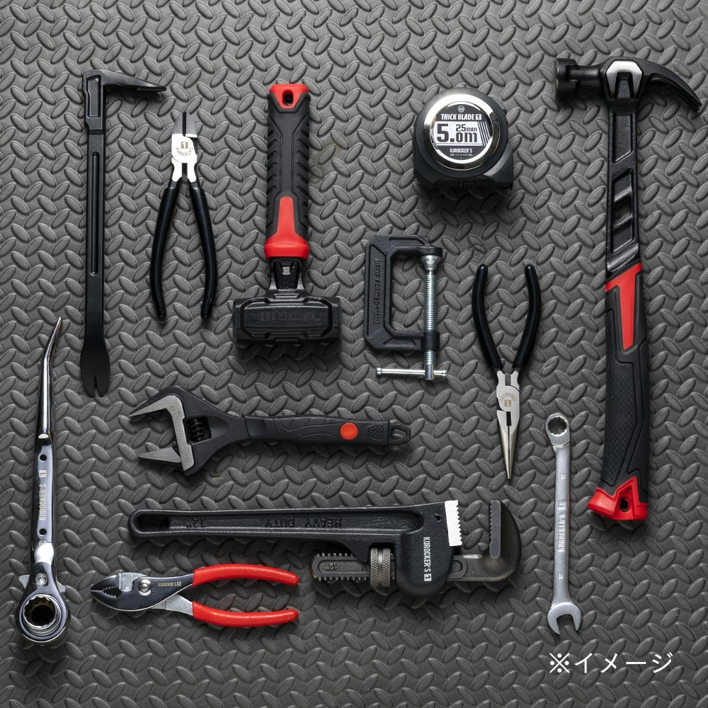 【1年保証付き】KUROCKER'S ワイドモンキーレンチ 200mm