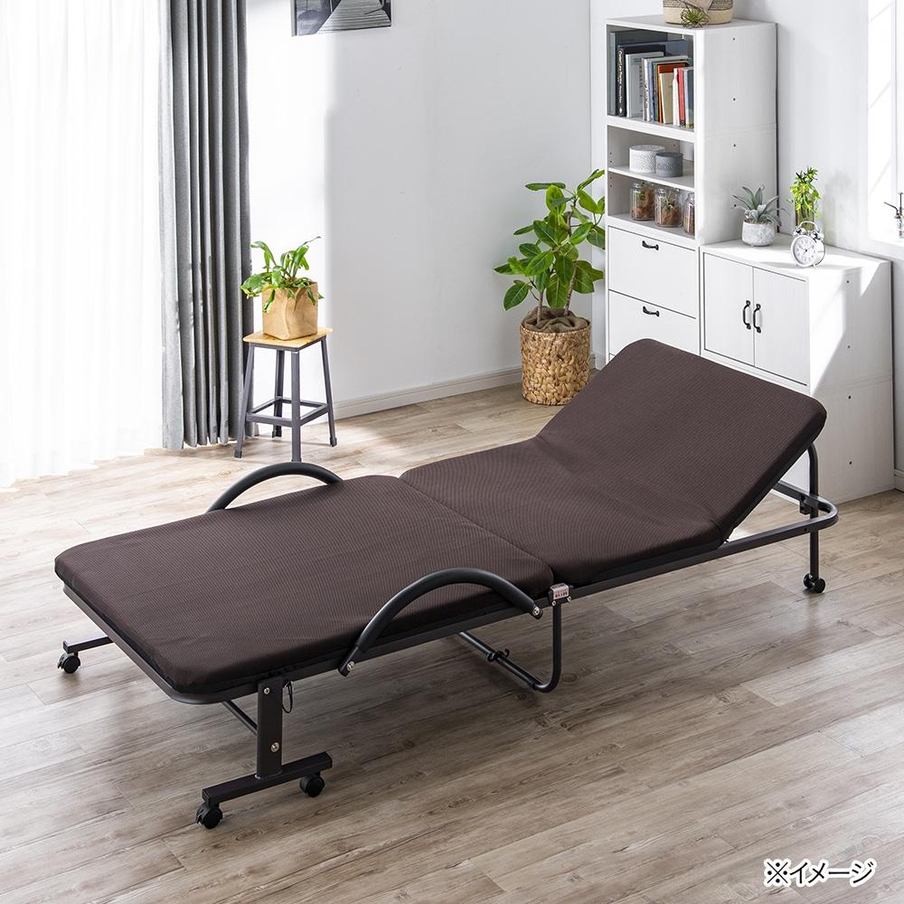 メッシュ折り畳みパイプベッド