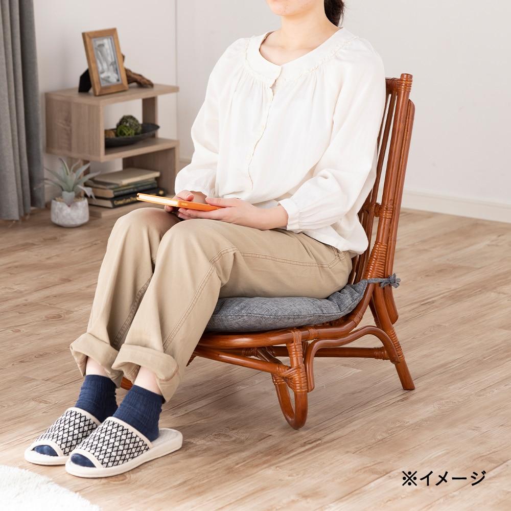 【数量限定・2021春夏】ゆったり座れる幅広ミニラタンチェア