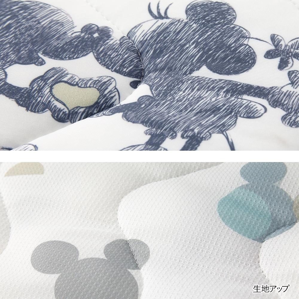 【2021春夏】もちっとした肌触りもっとひんやり持続消臭まくらパッド ミッキーマウス 50×50cm