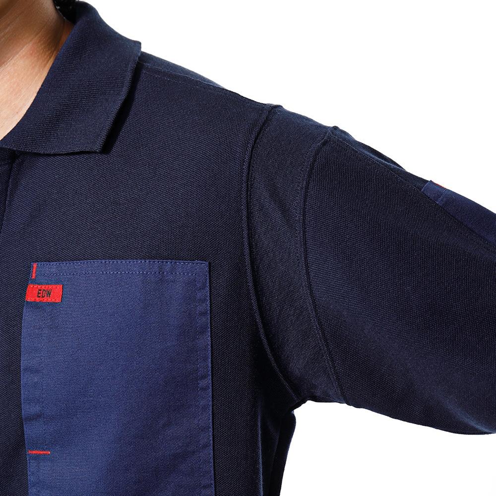 EDW カノコポロシャツ ネイビー M