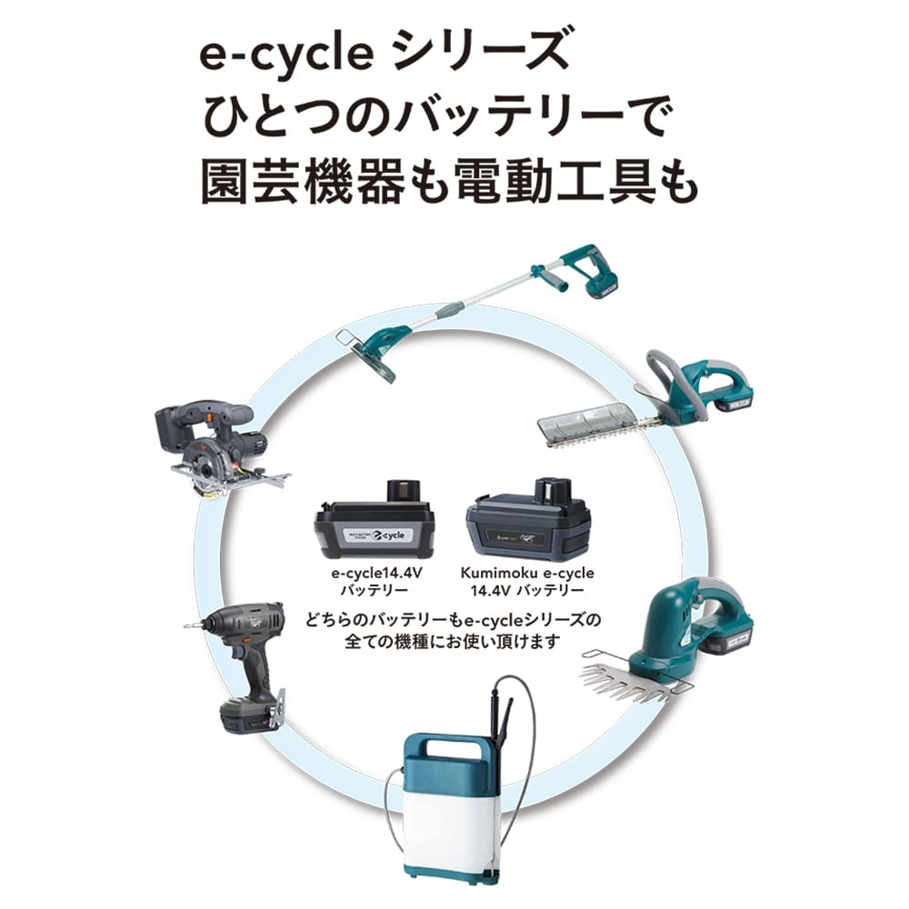 【数量限定】e-cycle 14.4V 充電ヘッジトリマー 250mm(バッテリー別売り)