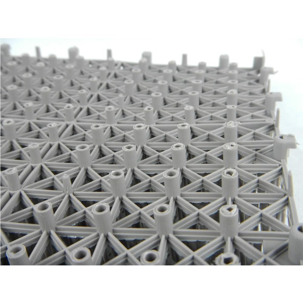 ジョイント人工芝 30cm×30cm 6枚組 ウォームグレイ
