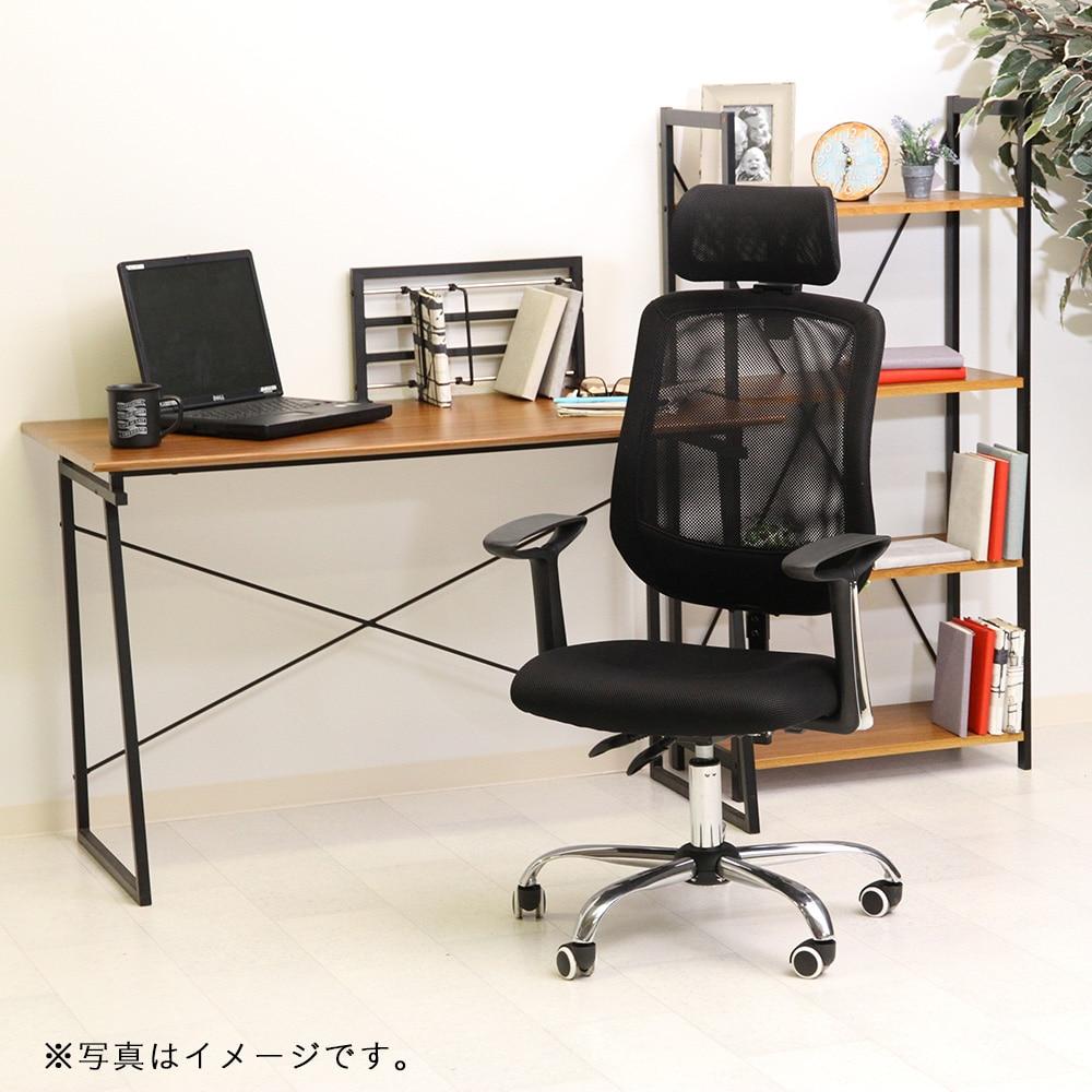 オフィスチェアー ヘッド付 アンテロープ ブラック【別送品】