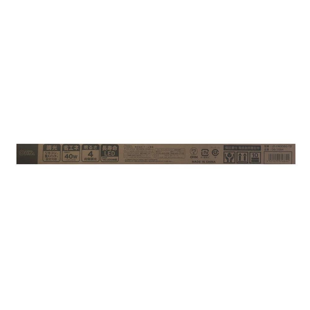 【店舗限定】オーム電機 縦型LEDシーリングライト 6〜8畳用 LE-Y40D8G-TB 06-1684