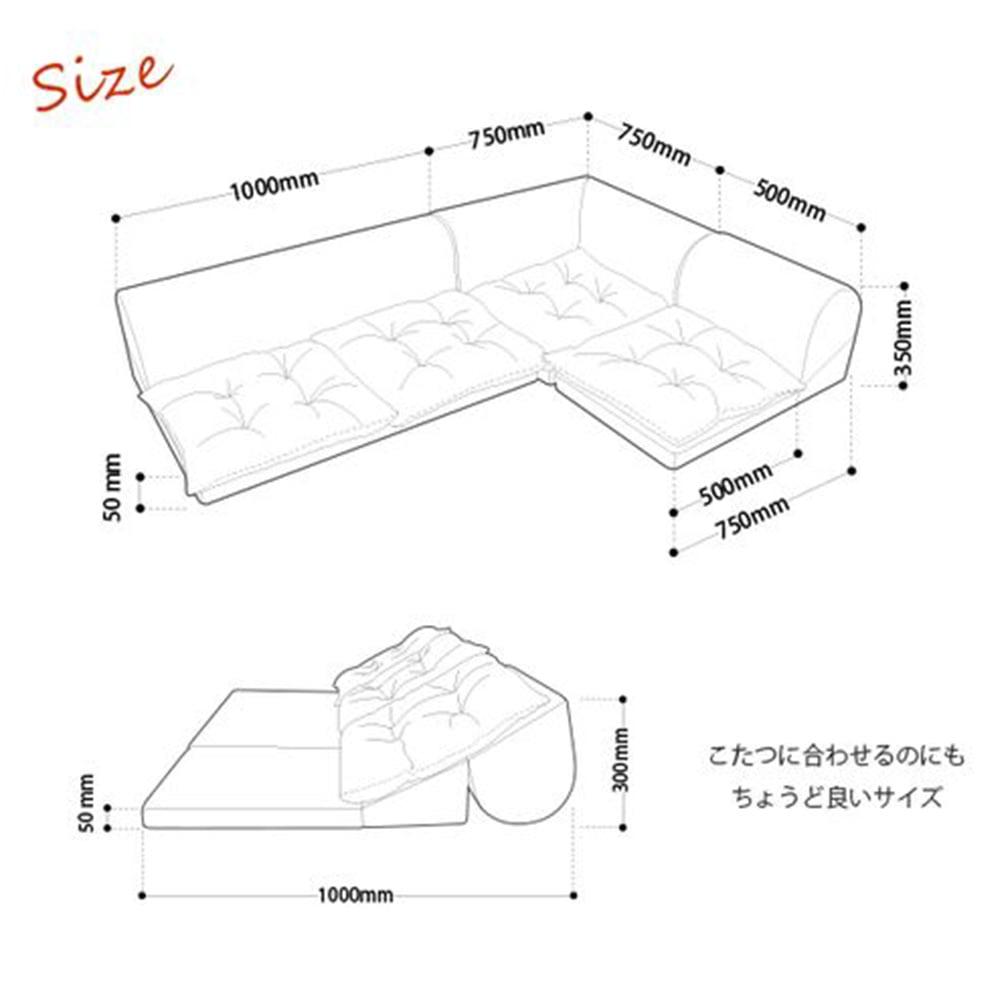 【Web限定】コーナーソファー3点セットKSA−306BE【別送品】