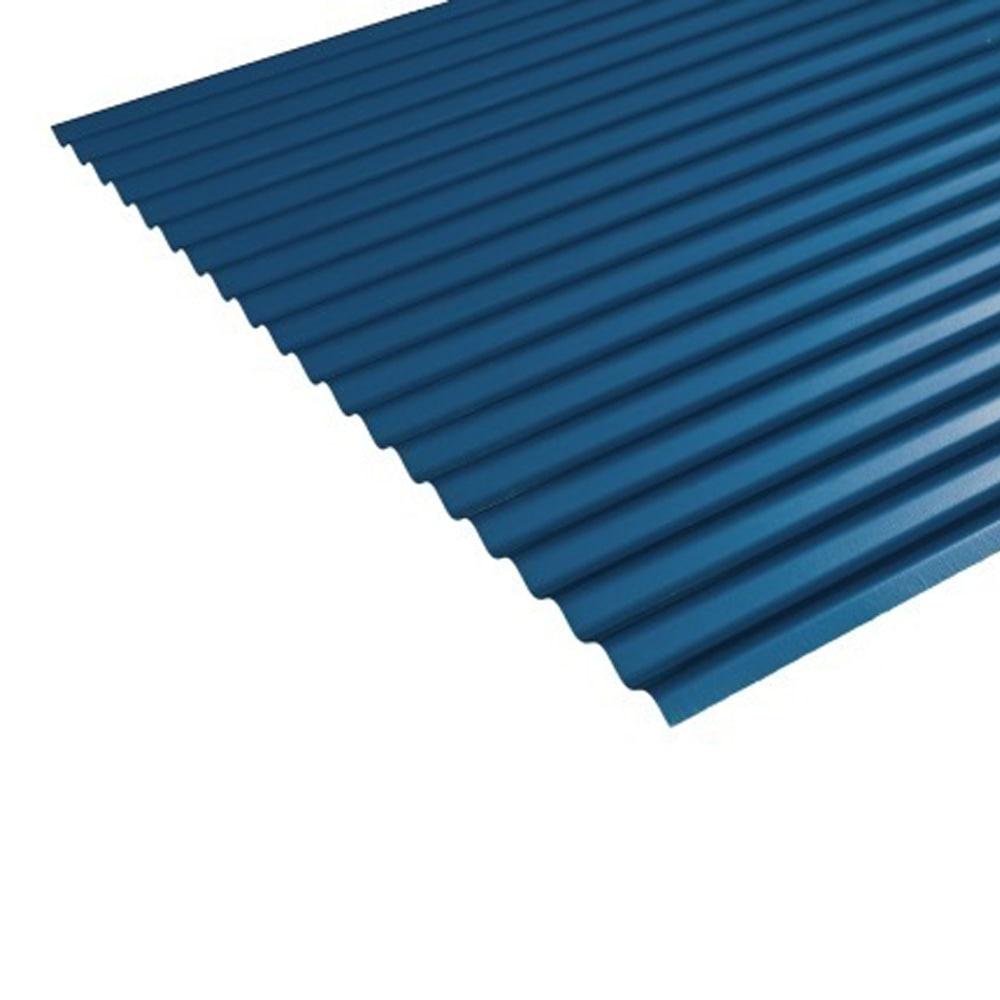 【店舗取り置き限定】トタン波板 ブルー 8尺 0.25厚