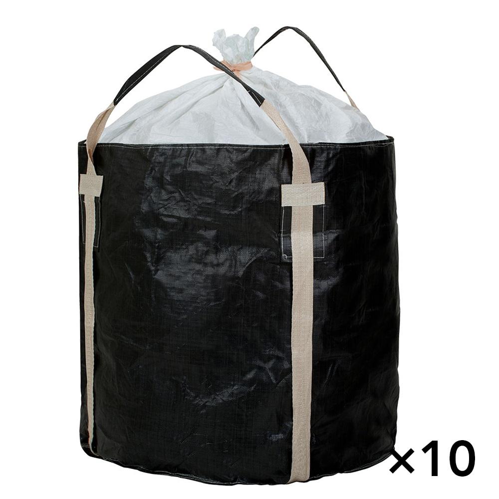 【ケース販売 】フレコンバッグ 丸型 1100KHR-BW[4965815584724×10枚]【別送品】