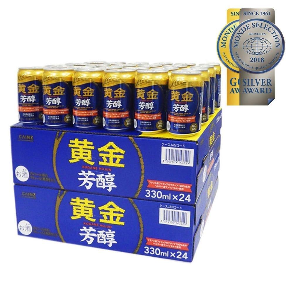 【ケース販売】黄金 芳醇 6% 330ml×24本×3ケース