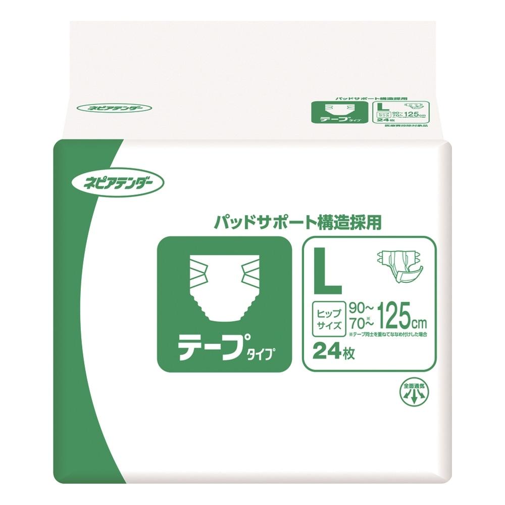 【ケース販売】ネピアテンダー テープタイプ L 72枚(24枚×3個)[4901121449517×3]