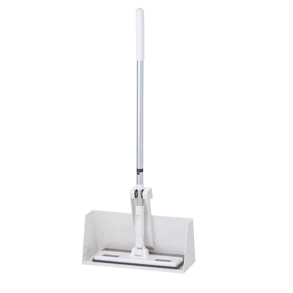 【セット商品】立つフローリングワイパー(ホワイト)+フローリングワイパー用スタンド(ホワイト)