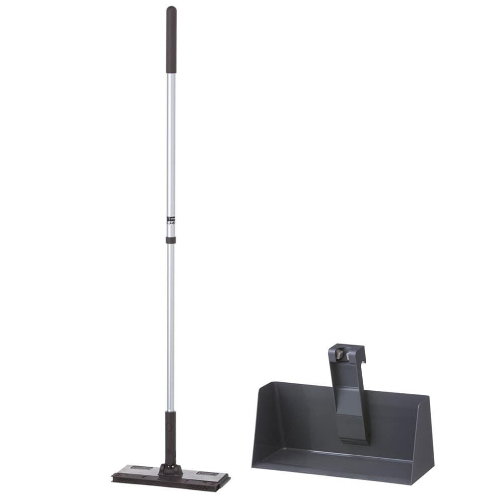 【セット商品】立つフローリングワイパー(ブラウン)+フローリングワイパー用スタンド(グレー)