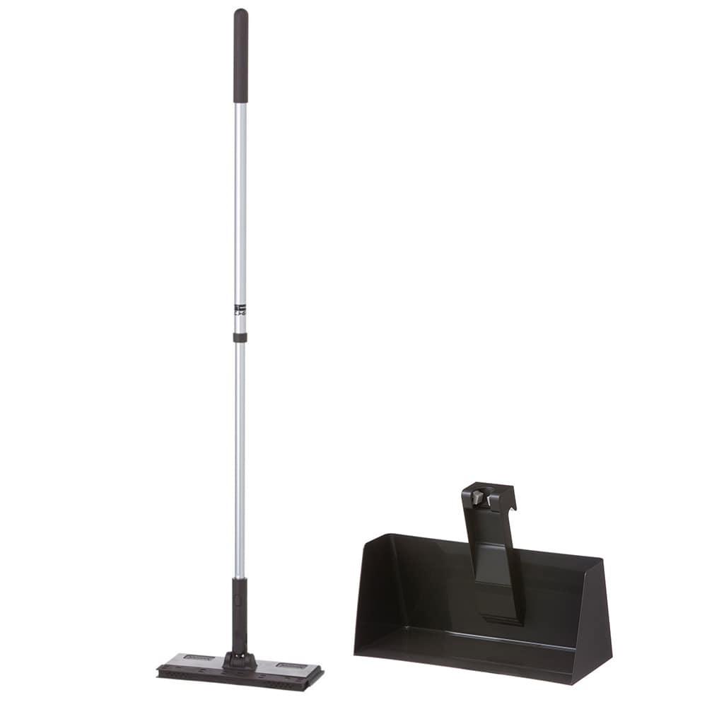【セット商品】立つフローリングワイパー(ブラウン)+フローリングワイパー用スタンド(ブラック)