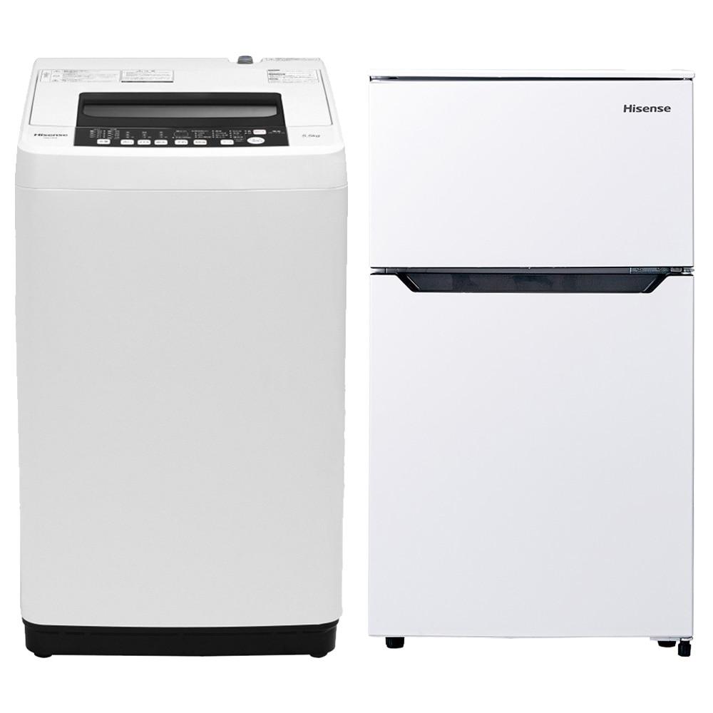 【セット商品】Hisense 全自動洗濯機 HW-T55C & 冷凍冷蔵庫 HR-B95A【別送品】【要注文コメント】