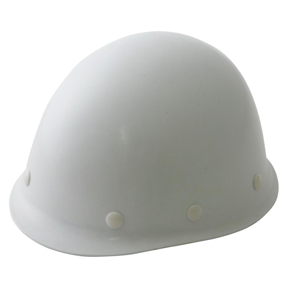 ヘルメット 建設用 ツバ無し 白