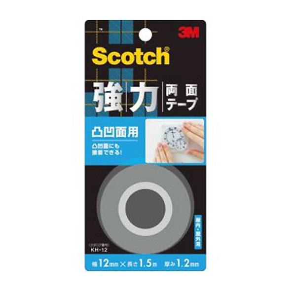 3M スコッチ(R) 強力両面テープ 凸凹面用 12 1.5KH-12