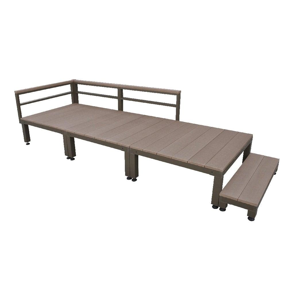 【SU】人工木ユニットデッキ 0.75坪セットステップ付 BR