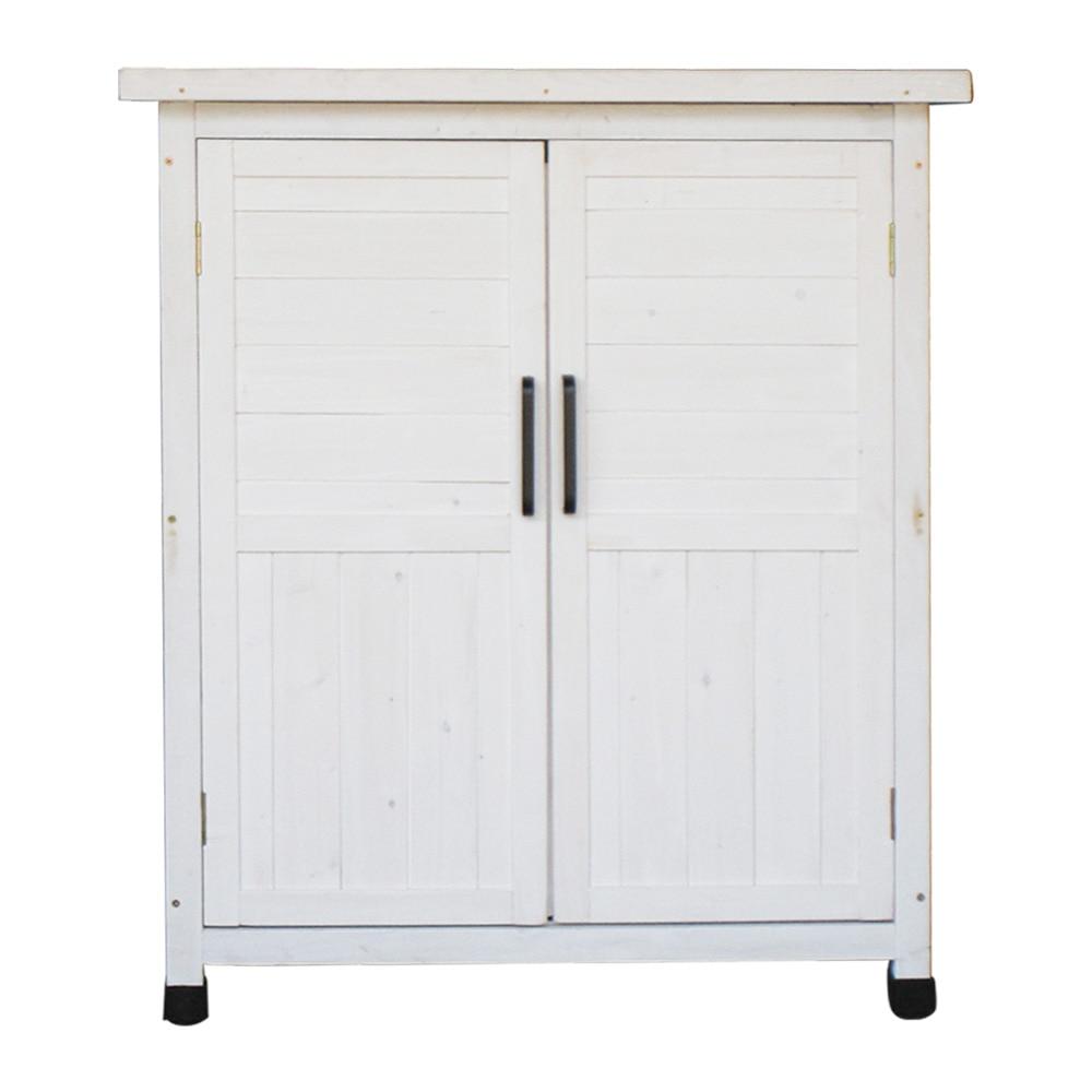 木製収納庫 小 ホワイト