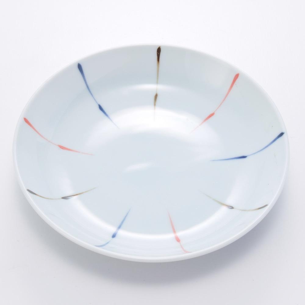 持てばわかる軽量シリーズ 皿 三色十草 16cm