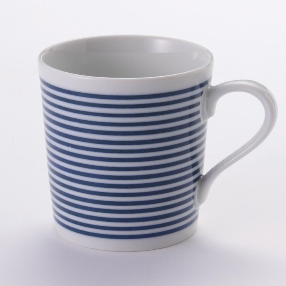 軽量マグカップ ボーダー(青)
