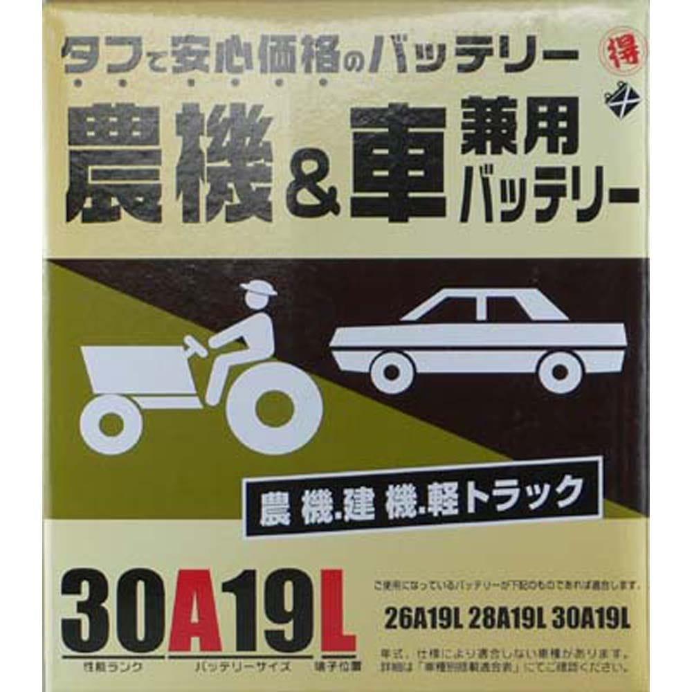 丸得バッテリー業務用 30A19L【別送品】