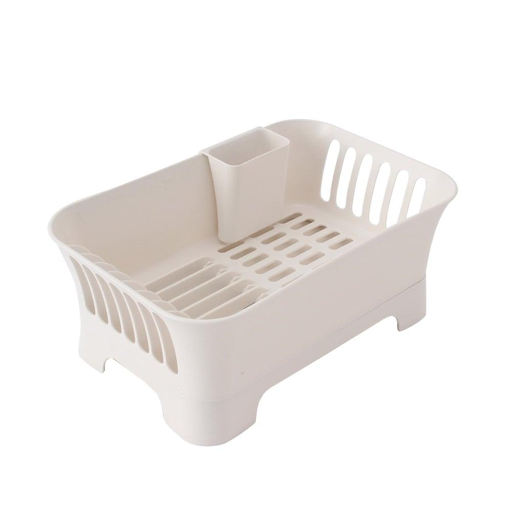 水切りバスケット 水が流れるトレー ホワイト HA4555